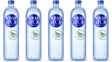 Lancerer vandflaske i genanvendt plast