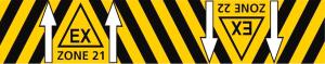 EX gulvmarkering zone 21 og 22